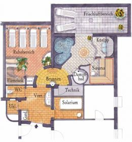 Floorplan spa area