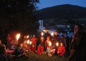 Torchlight hike