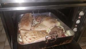Schweinsbraten in den Ofen